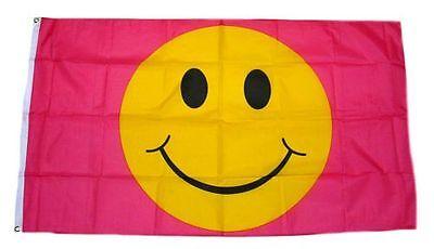 Flagge / Fahne Smile Smiley Pink Hissflagge 90 x 150 cm