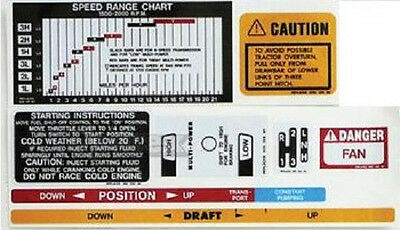 Massey-ferguson Mf 35 50 65 Tractor Add-on Decal Set Safetyliftspeedshiftmp