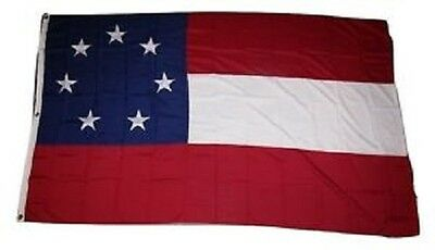 4x6 ft Embroidered 1st National Stars Bars 7 Star 100% Cotton Flag 4'x6' Banner