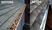 Eavestrough cleaning and lawn maintenance
