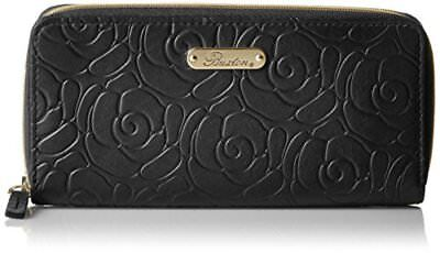 (Buxton Leather Womens Rose Garden Accordion Zip French Purse, Dragon Fly Wallet)