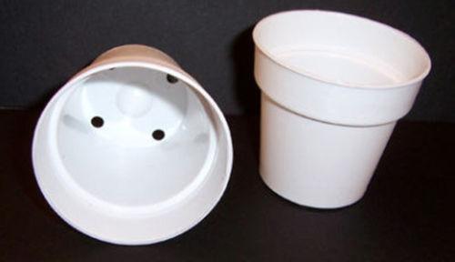 White Flower Pot Ebay