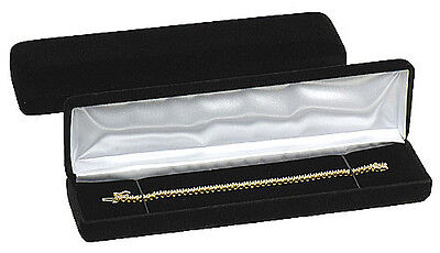 Black Velvet Bracelet Watch Jewelry Gift Box 8 X 2 X 1 18h