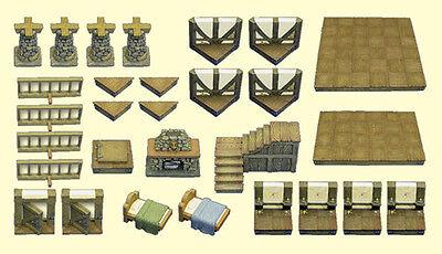 Dwarven Forge Master Medieval Building Expansion Set MM-028 NEW IN BOX OOP D&D