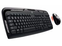 Logitech EX110 Wireless Desktop Keyboard and Mouse