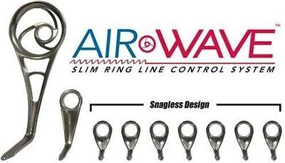 Spinning Guide Set (AMERICAN TACKLE MICROWAVE AIRWAVE SPINNING GUIDE SET-HARD CHROME- 9 GUIDES )