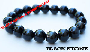 MULTI COLOR GENUINE 10MM Natural Gemstone Round Bead Stretch Bracelet BirthStone