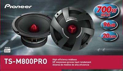 "New Pioneer TSM800PRO 8"" PRO Series High Efficiency Mid-Bass Car Speaker Drivers"