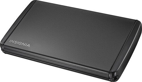 "Insignia- 2.5"" Serial ATA Hard Drive Enclosure - Black"