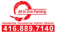 Residential Interior and Exterior Painting.- 416-889-7140