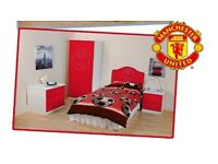 Manchester United Official Young Supporters Bedroom Furniture, Special Christmas Limited Offer.