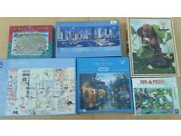 Collection of 6 jigsaw puzzles