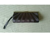 Silver grey evening bag with wrist strap from New Look