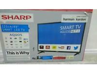 Brand new Sharp Led smart wifi 49 inch t