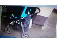 Pushchair + carrycot + car seat