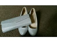 Matching clutch bag and shoes (size 5)