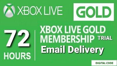 Xbox Live Gold 72 Hour / 3 Day Trial - Fast Email Delivery
