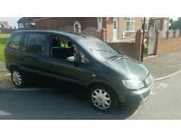 Vauxhall zafira 1. 6 , 2002, 7 seater, green, 11 months mot ,