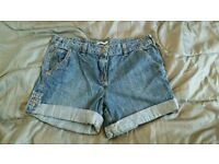 Ladies denim jean jeans shorts clothes fashion