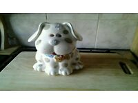 Forever paws pottery treat container