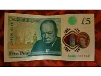 £5 Note AA 35