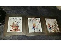 Framed alice in wonderland prints