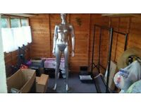 Full Size Female Mannequin with Glass Stand