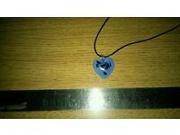 Ladies antica murrina venetian glass heart pendant