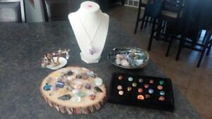 Assorted Crystal and healing stone jewelry