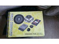 "13cm 5""ish Car speakers Component's Ground Zero Radioactive GZRC 130FX 140watts shallow mounts"