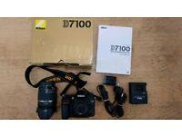 Nikon D7100 with lens