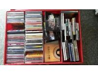 cd collection in flightcase