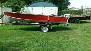 14 ft wide body with 15hp electric start jonhson