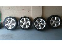 """vauxhall 17"""" alloy wheels"""
