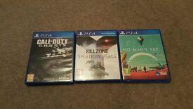 No Man's Sky Call of Duty Ghosts Kill zone Shadow Fall PS4