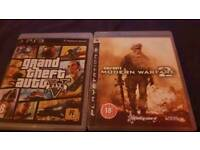 playstation 3 with 2 games and controller ps3