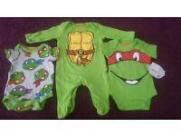 Mothercare Ninja turtle onsie set