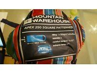 Mountain warehouse sleeping bag 250 Used once season 2