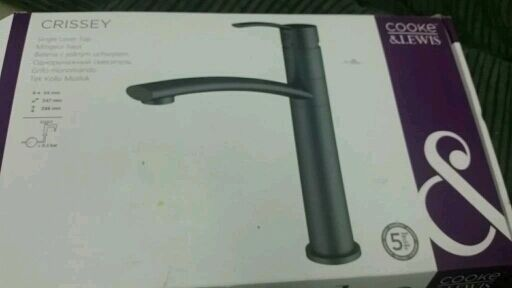 kitchen mixer single lever tap by Cooke and lewis