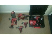 Milwaukee m12 combi drill, impact driver, impact screw driver, SDS, pipe cutter, angle drill,speaker