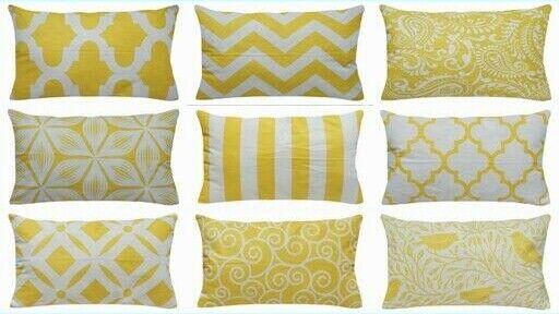 12x20 Quot Yellow Premium Throw Pillow Case Home Decor Sofa