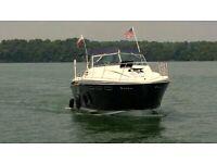 Wellcraft Suncruiser USA 25.5 ft project cabin family cruiser boat