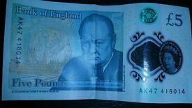 AK47 UK £5 Note