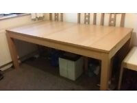 Dining Table (Can extend to x1.5 in length) with x6 Chairs
