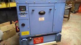 silenced diesel generator 5kva, long run tank. ideal trader/standby/emergency