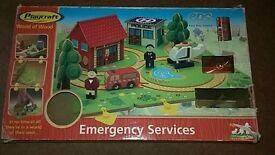 Playcraft Emergency service wooden track.