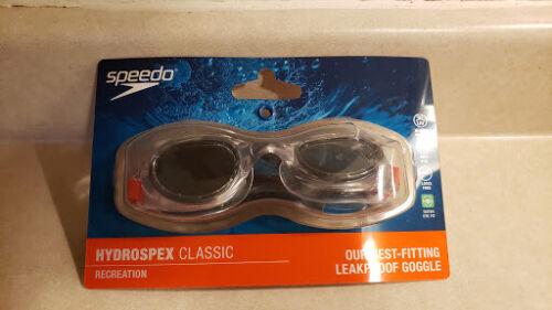 Speedo Hydrospex Classic Swim Goggle, Clear - Pre-Owned!