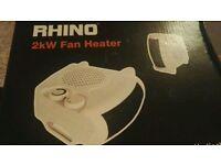 2x Rhino 2kW Fan Heater