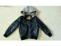 Boys leather look coat from Next age 5