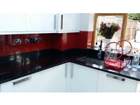 Black Mirror Chip Quartz Kitchen Worktops in UK